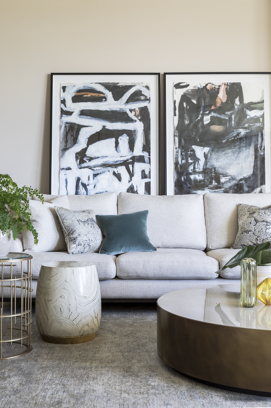 Artwork by Antonia Perricone Mrljak from Becker Minty as seen in our    Hunters Hill House    project.