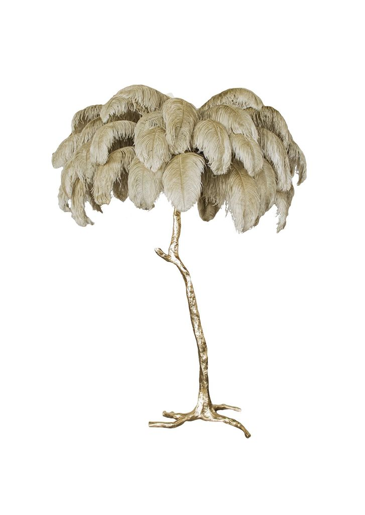 Gift your mum the midas touch with this oh-so-outré gold and ostrich feather lamp from    Becker Minty   .