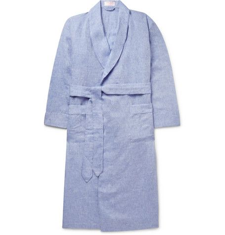 Emma Willis Slub Linen Robe    Just add coffee and the morning paper.