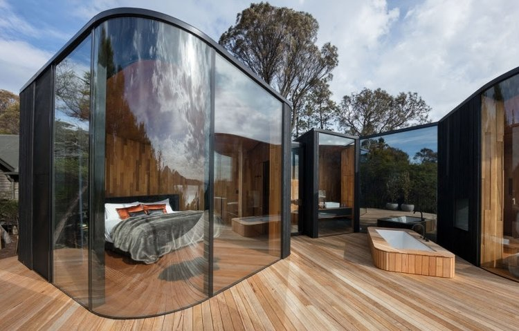 A Weekend Away at Freycinet Lodge's Coastal Pavilion    Get him what we all want: an escape from city humdrum in an ocean-view lodge inspired by the natural landscape of the Apple Isle (not to mention the outdoor bathtub). He taught you how to ride your bike after all . . .
