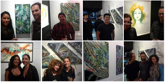 Pics of the opening night at:  https://www.facebook.com/rollupgallery
