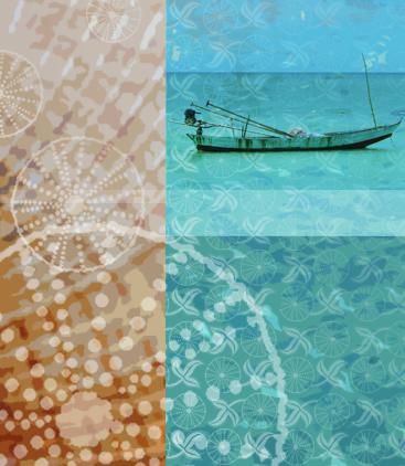 Sea Urchin & Fishing Boat