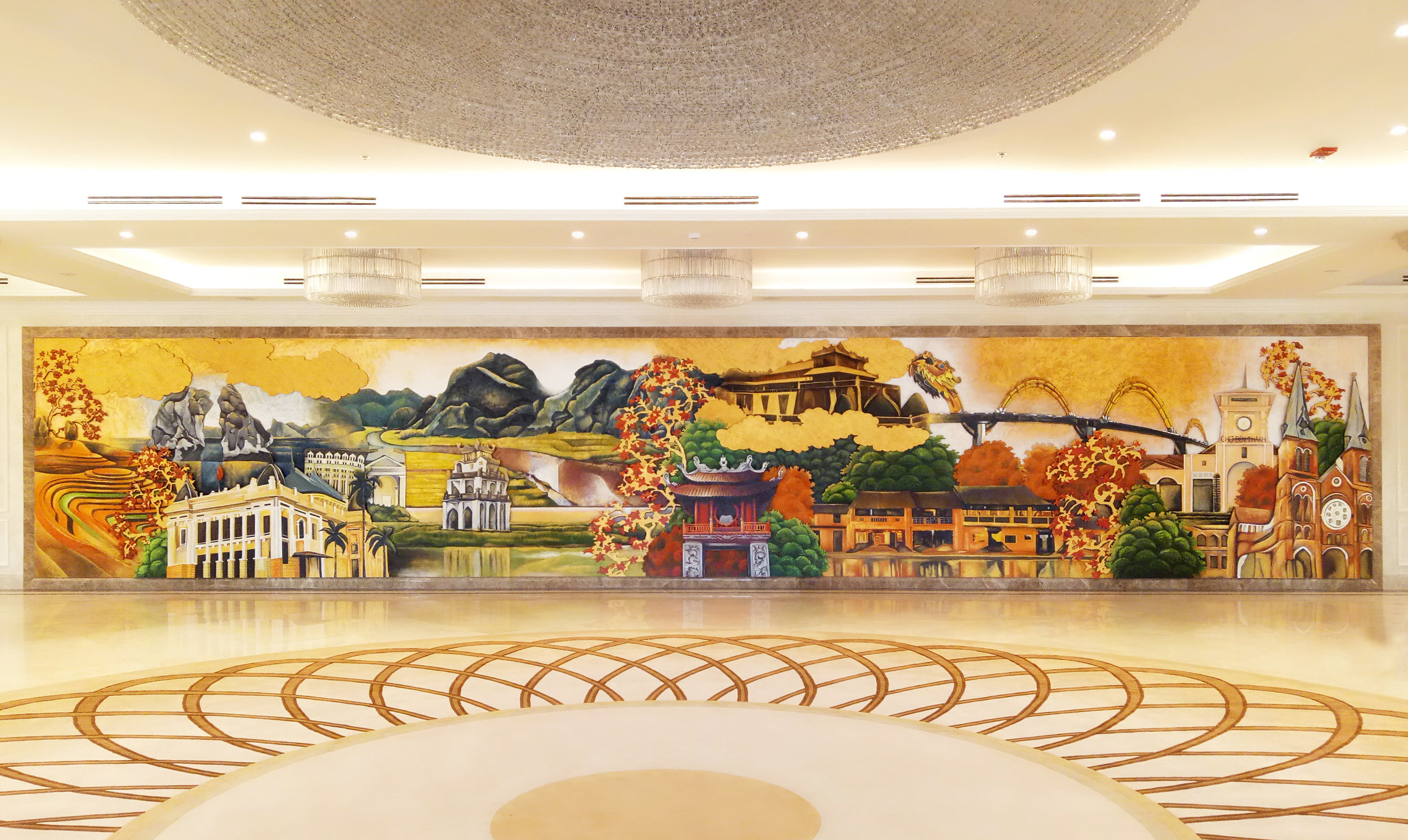 Sheraton Grand, Danang,  Function Center Mural
