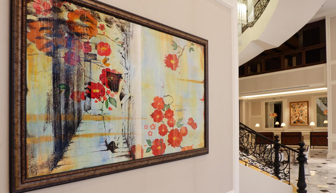 Mai House Saigon Lobby artwork