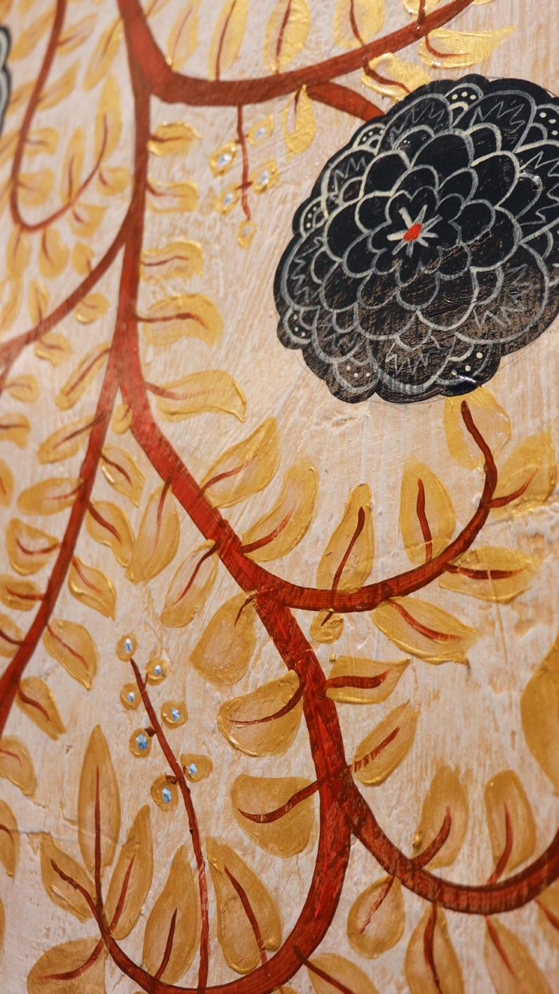 Mai House Saigon Lobby reception close up artwork