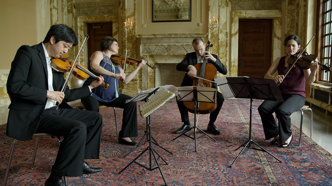 "In performance: The Jupiter String Quartet – ""Death and the Maiden,"" 1st Movement"