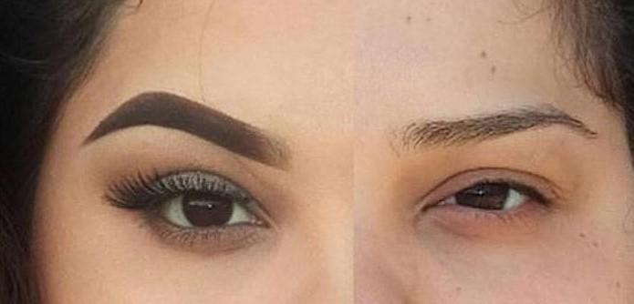 eyebrow ombre