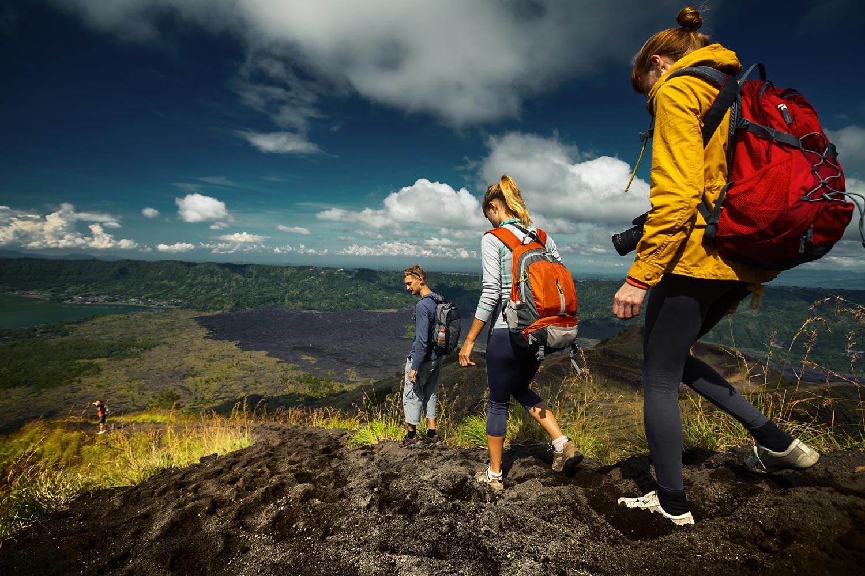 Descending into the caldera, Mount Batur Volcano | Kintimani, Bali