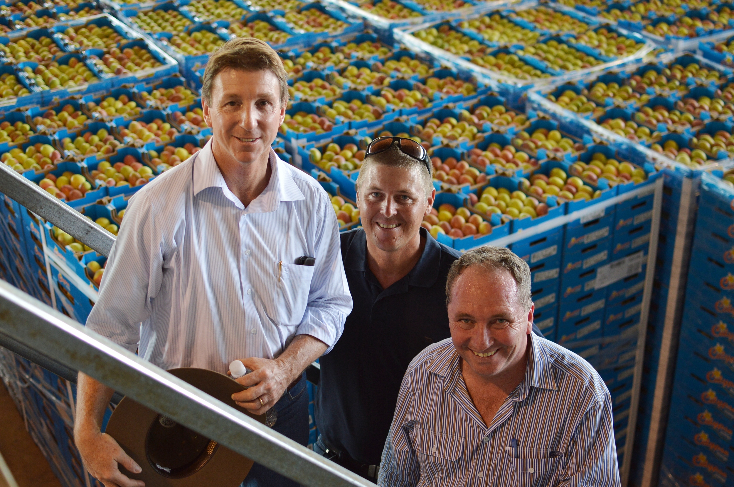 From left: Northern Territory Minister for Primary Industry and Fisheries, the Hon. Willem Westra van Holthe,   the Federal Minister for Agriculture, the Hon. Barnaby Joyce, and AMIA Chariman Gavin Scurr.