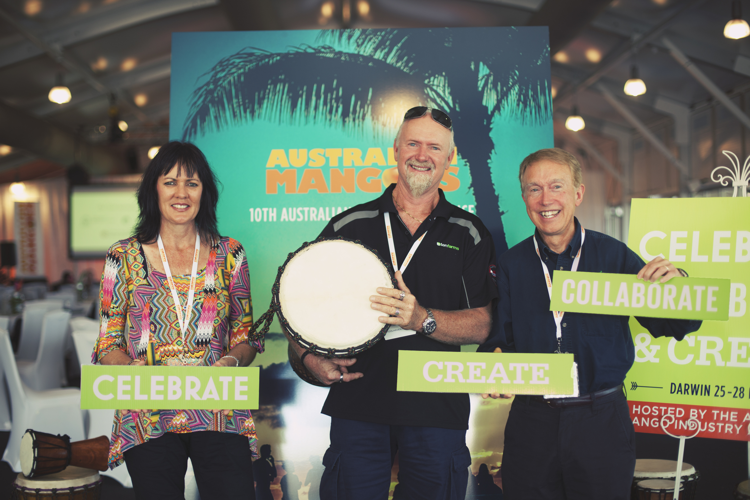 Alvise and Noalene Brazzale with Bill Gerlach from USmango importer Melissa's Produce at the 10th Autralian Mango Conference.