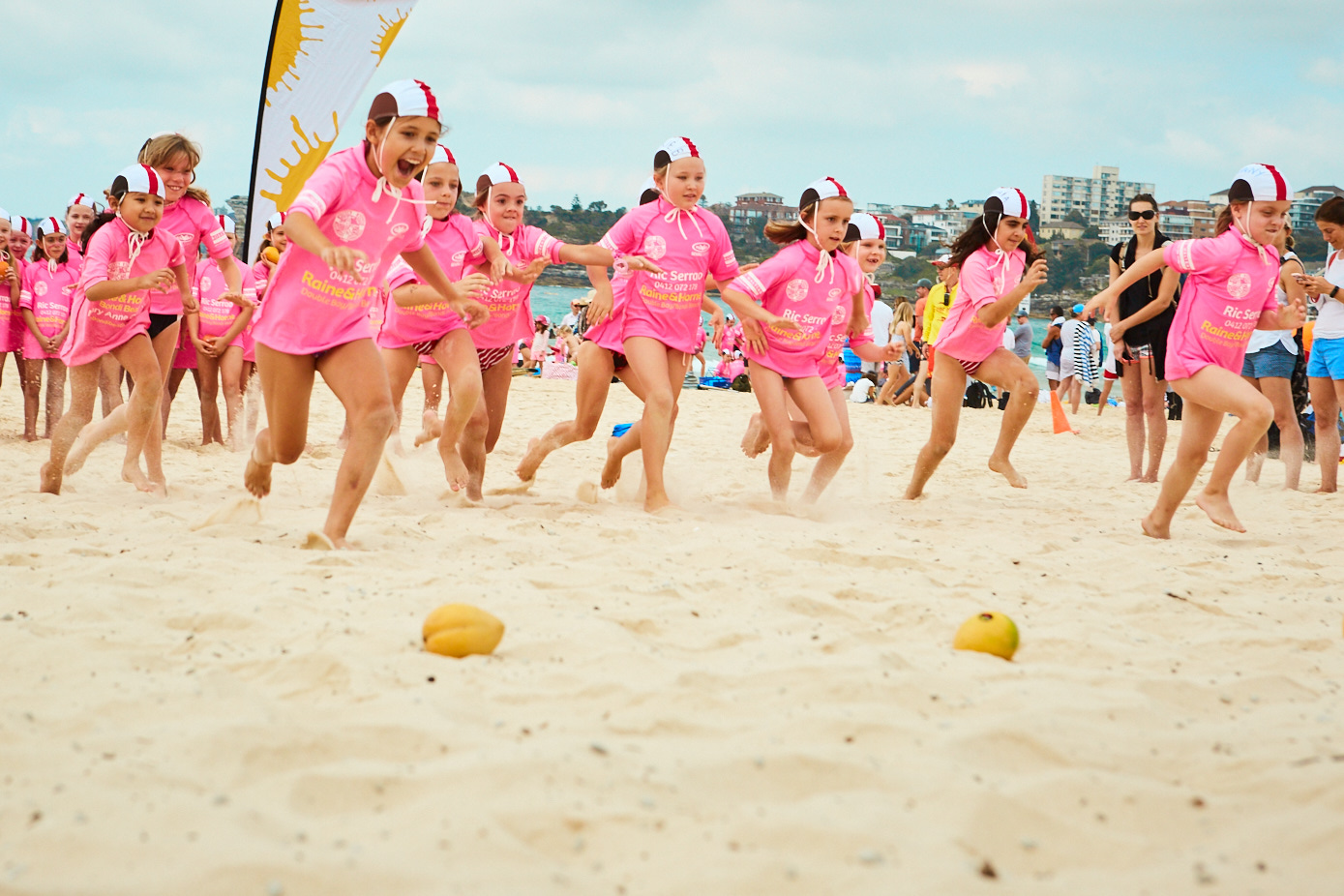 NBSLSC nippers compete in a mango challenge.