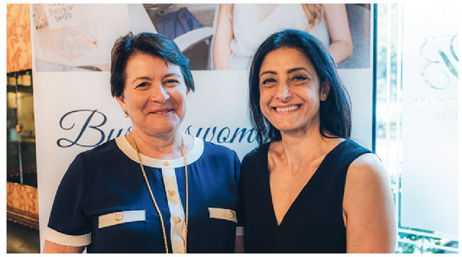 Marie Piccone, Manbulloo, with Suzi Dafnis, CEO and founder of HerBusiness.