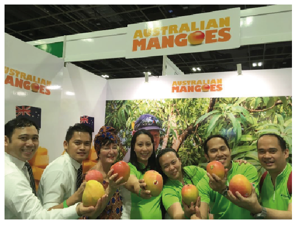 Australian Mangoes stand at Cold Storage Day.