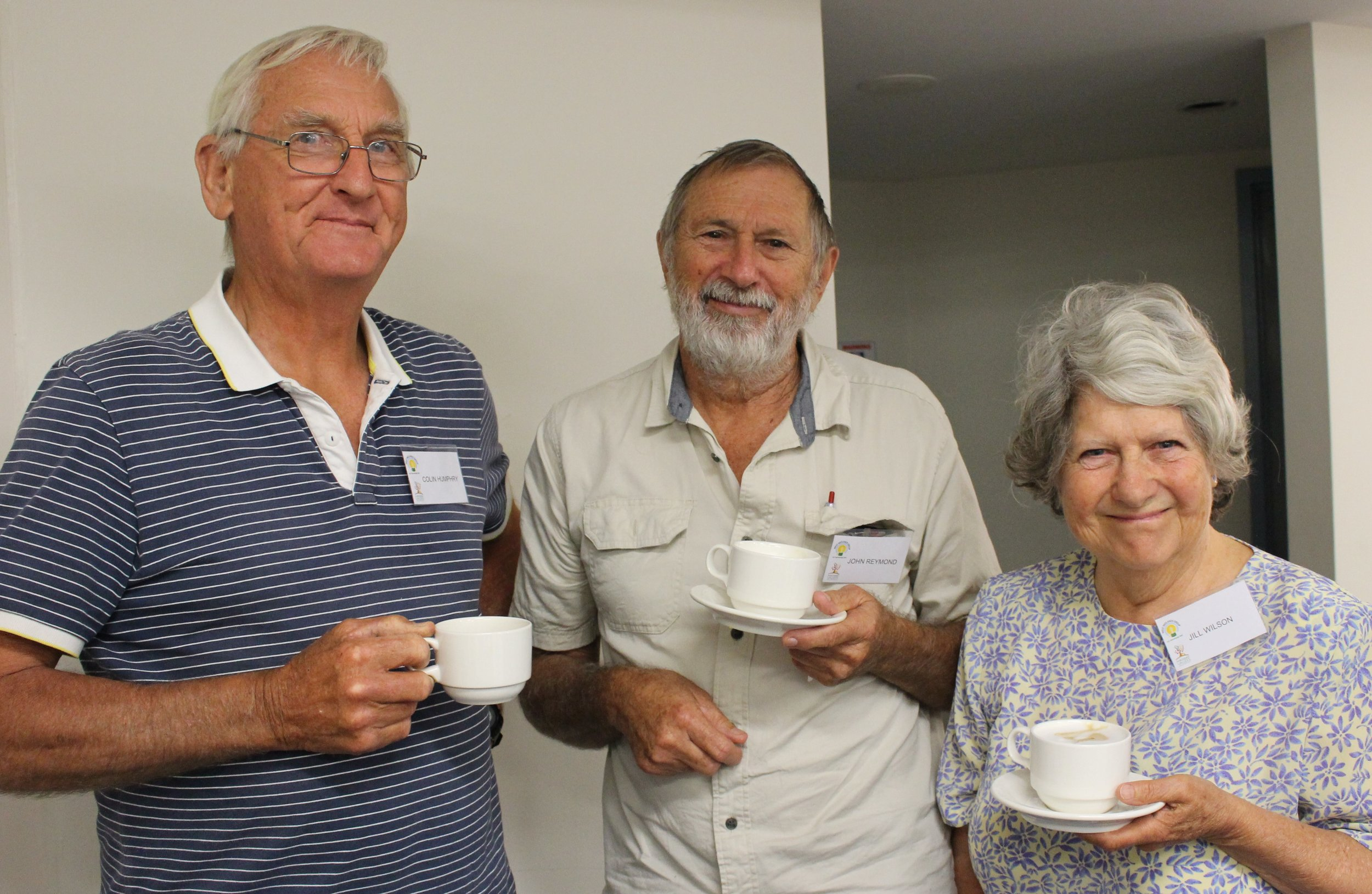 Colin Humphey, John Reynols and Jill Wilson, members of SMANGO.JPG