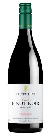 Felton Road, 2012 Block 5 Pinot Noir $100     Single Vineyard Central otago pinot noir From our own personal cellar.