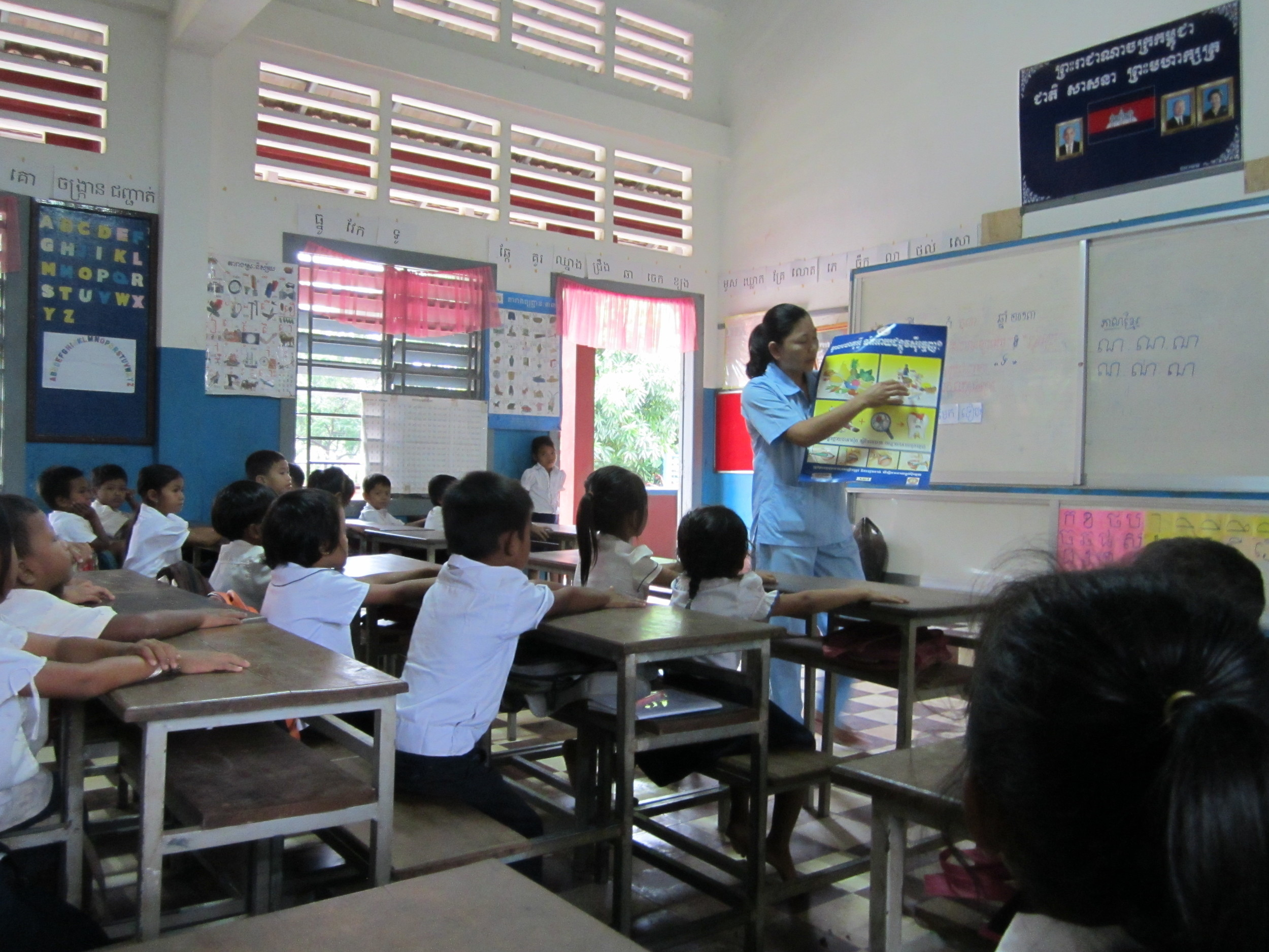 Oral Hygeine instruction at one of the Out reach Schools.JPG