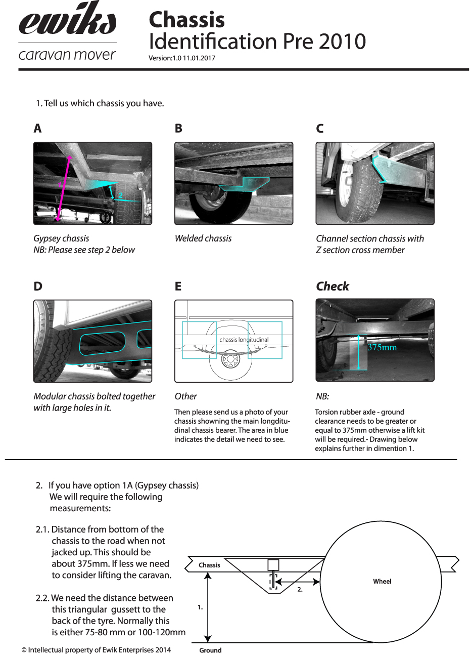 Caravan Chassis Identification Pre 2010