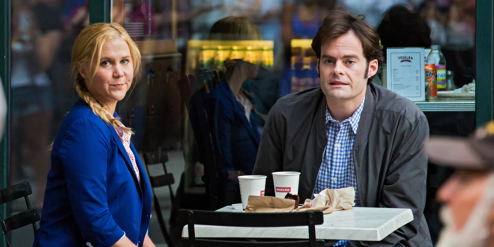 Trainwreck  (2015): Amy Schumer and Bill Hader.