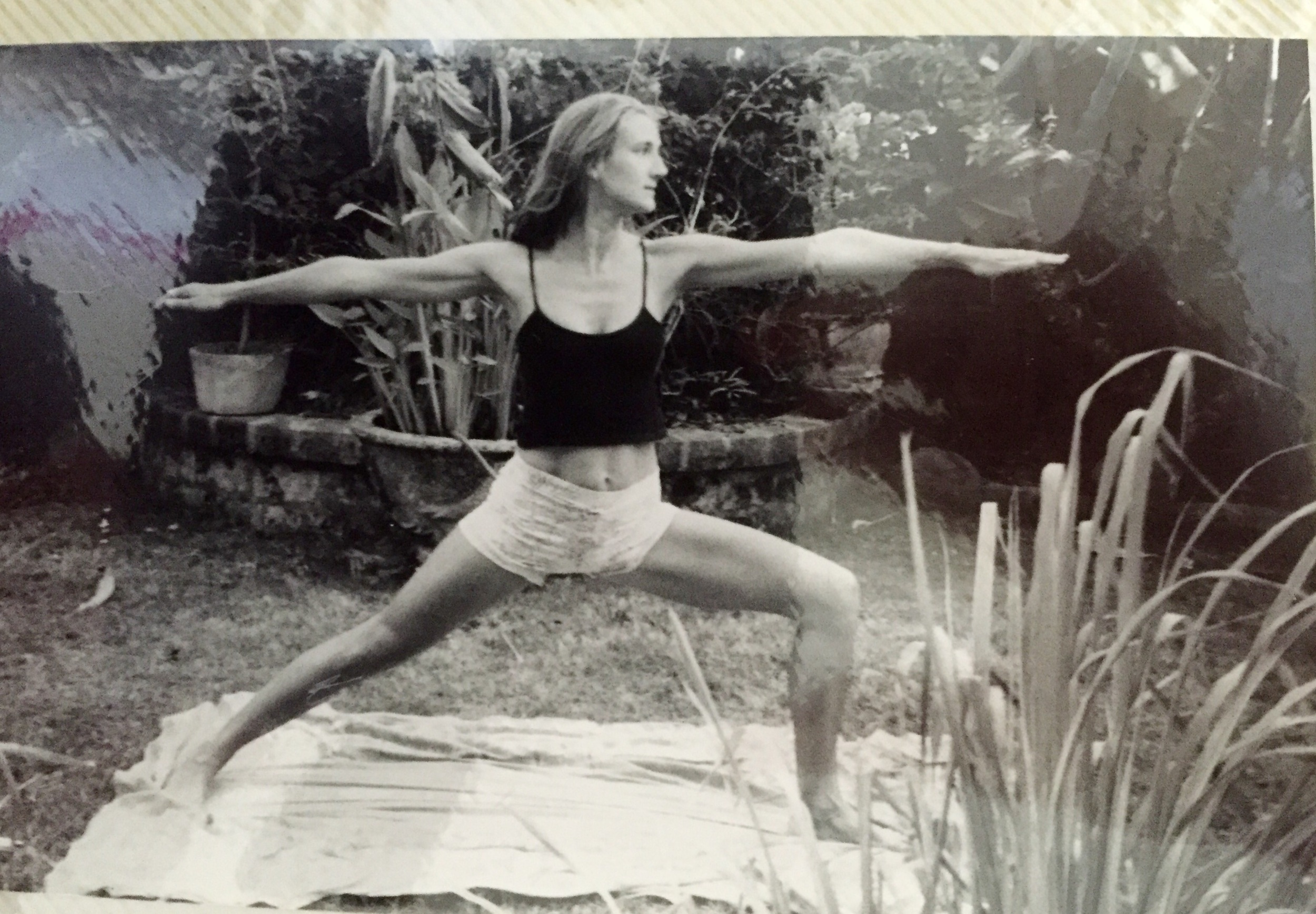 This is me in my garden in Bali doing my morning practice...