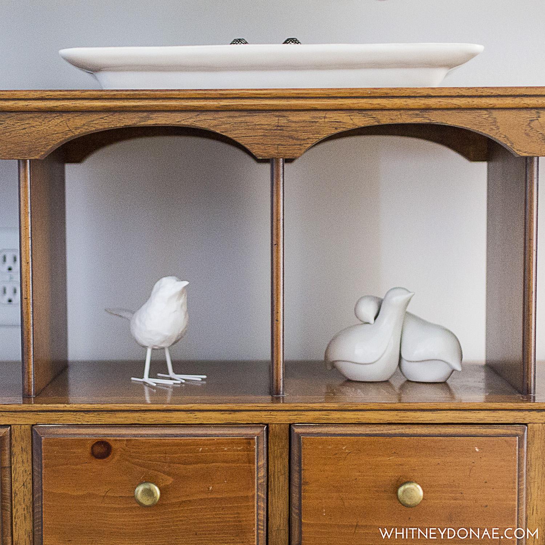 White Platter and Birds