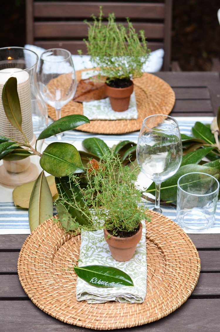 Iron and Twine Tablescape