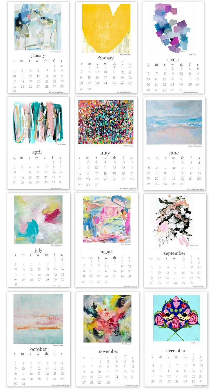 Creative Exchange Free Printable Calendar