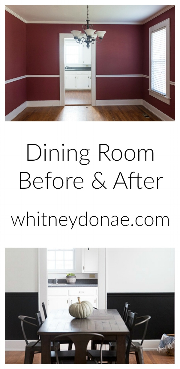 Pickens Dining Room Before & After