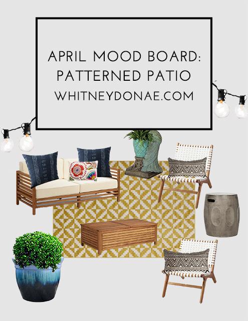 April Mood Board: Fun & Patterned Patio