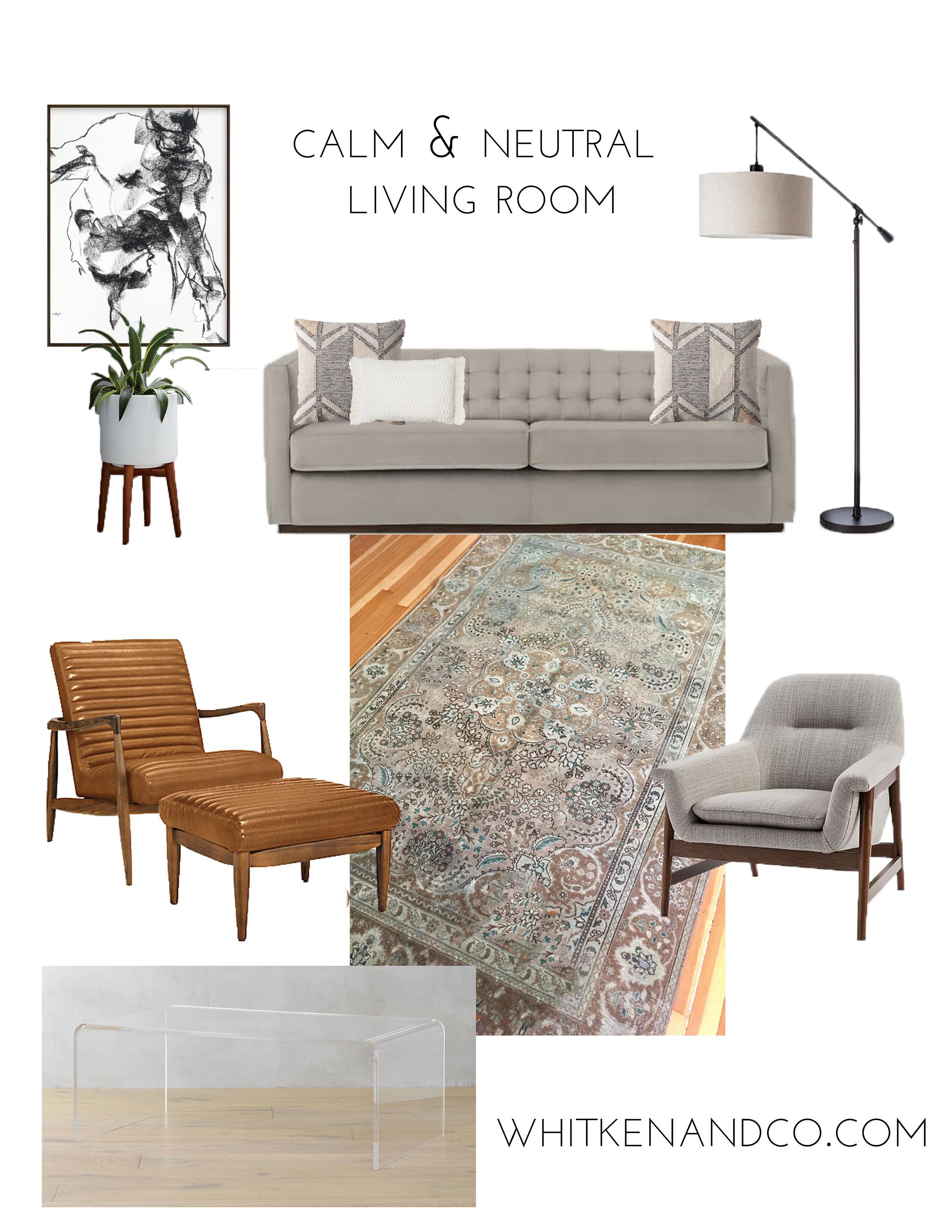 Calm & Neutral Living Room