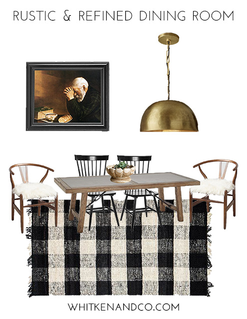 Rustic & Refined Dining Room