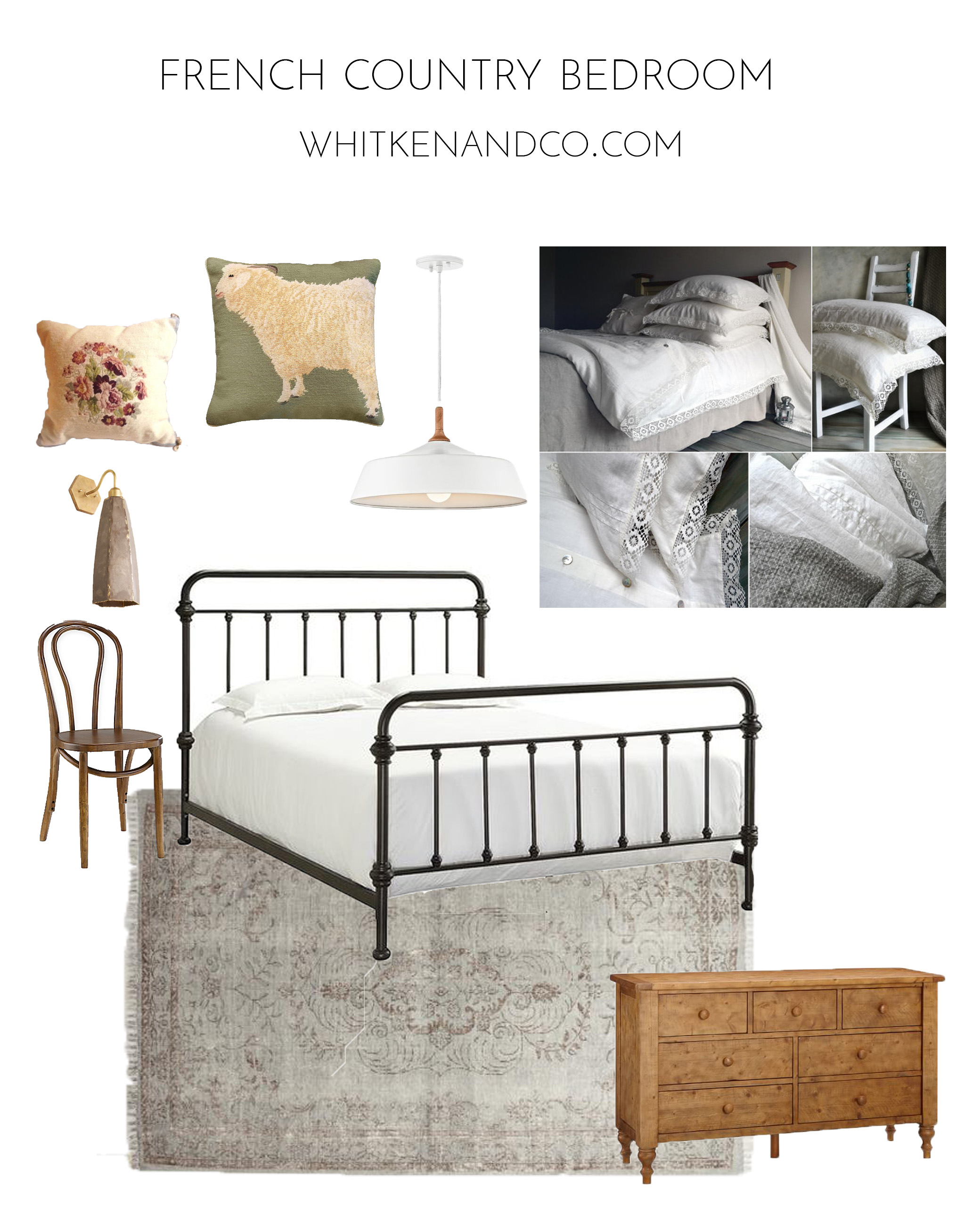 Rustic French Country Bedroom - Whitken & Co.