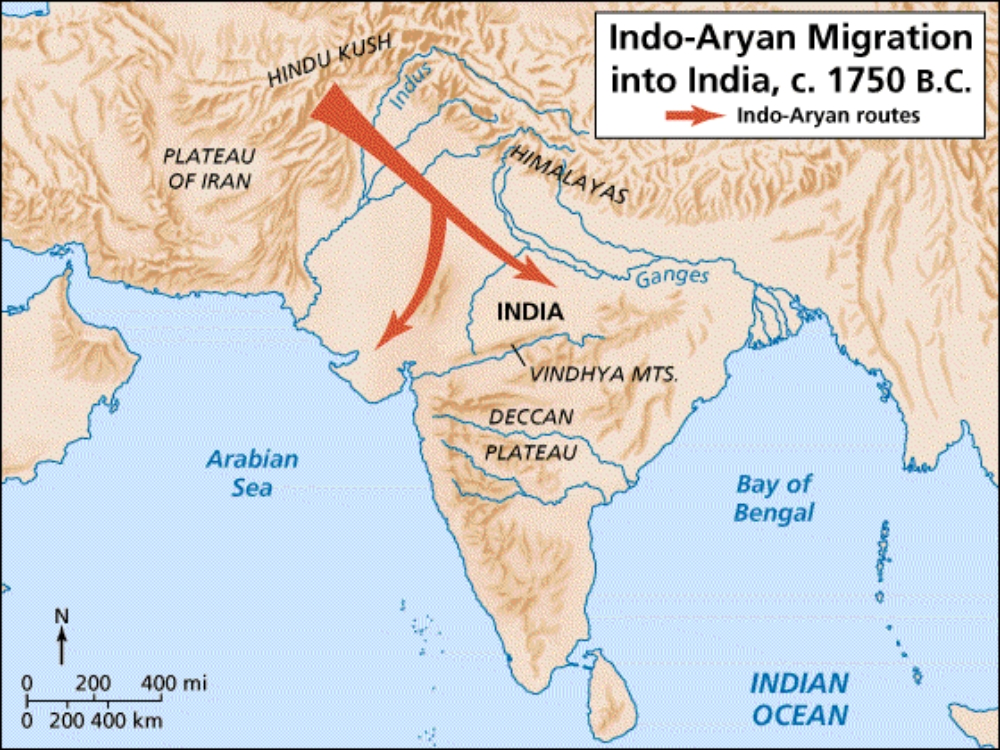 Hinduism (or what we call Hinduism today) arrived with the Aryan invaders thousands of years ago.