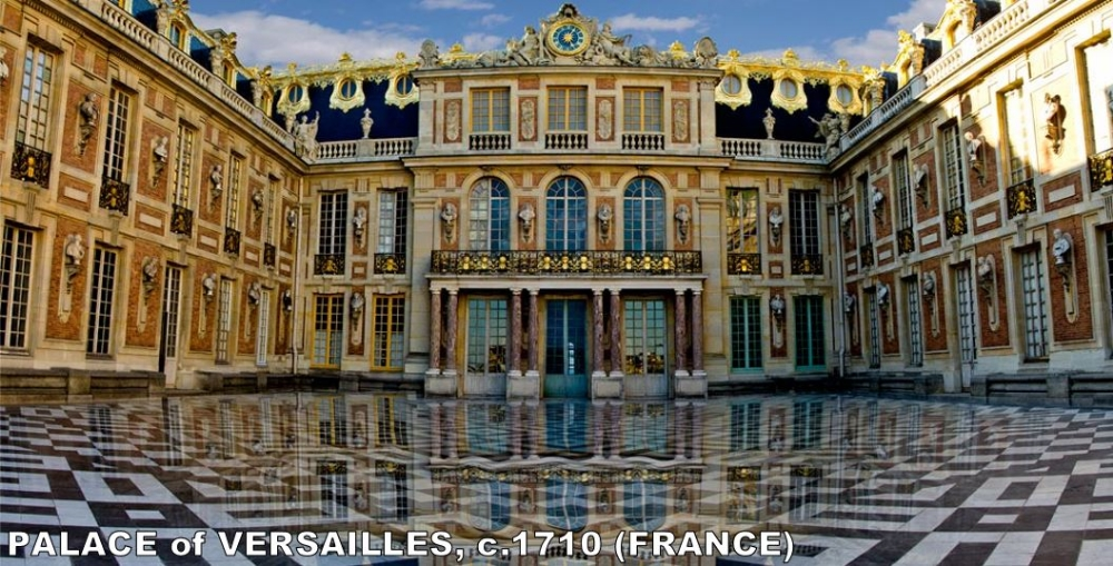 Versailles was originally the hunting lodge for Louis XIII. It was located roughly 12 miles outside of Paris and served as an home away from home for the king. Louis XIV, the absolutist Absolute Monarch ever, decided to build an entire city around it. This was the home of the king for around 100 years until the French Revolution.