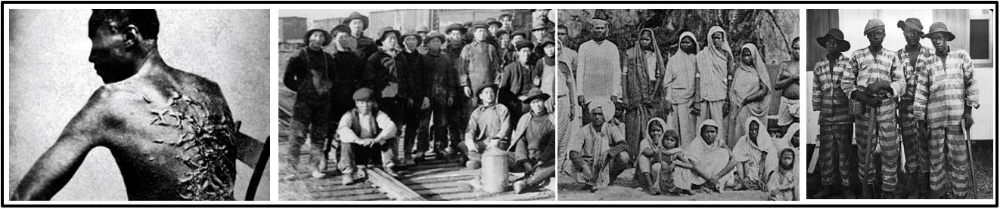 B. The new global capitalist economy continued to rely on  coerced and  semi-coerced labor migration including  Slavery , Chinese and Indian indentured servitude , and  Convict labor .