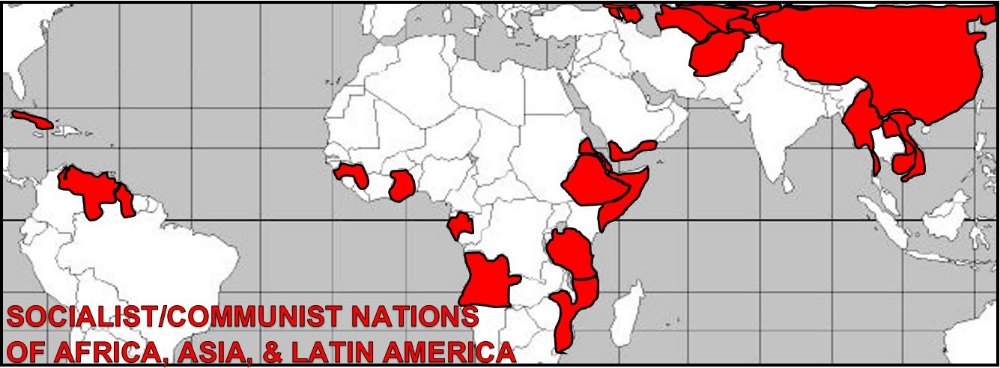 ...Movements to redistribute land and resources developed within states in Africa, Asia, and Latin America, sometimes advocating communism and socialism.