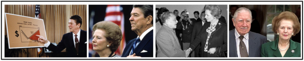 D. In a trend accelerated by the end of the Cold War, many governments encouraged free-market economic policies and promoted economic liberalization in the late 20th century. ( United States under Reagan , Great Britain under Thatcher , China under Deng Xiaoping , Chile under Pinochet , Pacific Rim nations, Korea, Vietnam) .