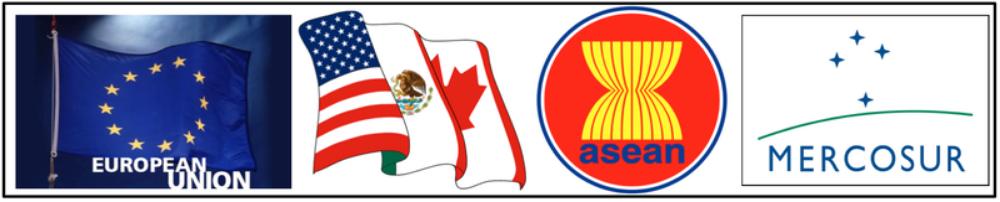 ...regional trade agreements ( European Union , NAFTA , ASEAN , Mercosur )