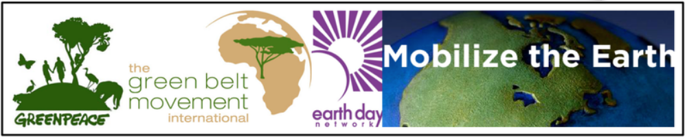 C. Movements ( Greenpeace , Green Belt in Kenya , Earth Day ) throughout the world protested the inequality of environmental and economic consequences of global integration.