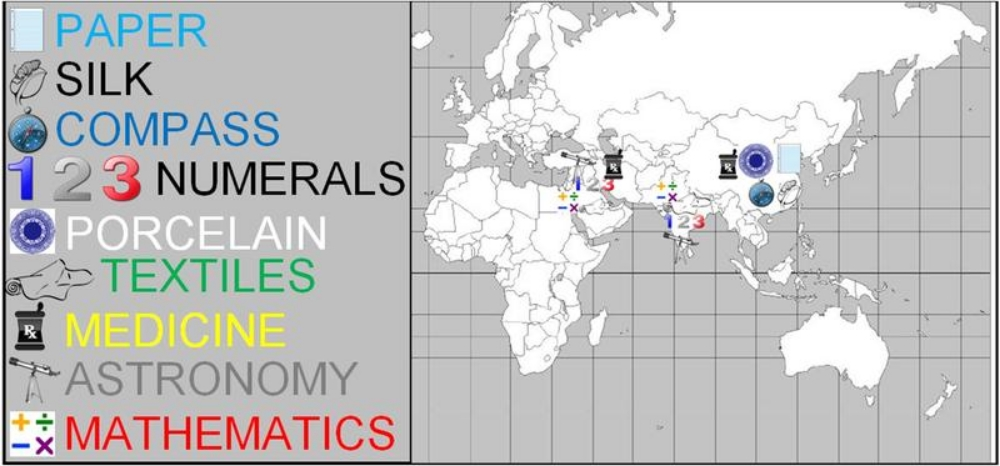 The SOL requires you to know the locations of the above  TECHNOLOGICAL & SCIENTIFIC EXCHANGES  in the EASTERN HEMISPHERE.