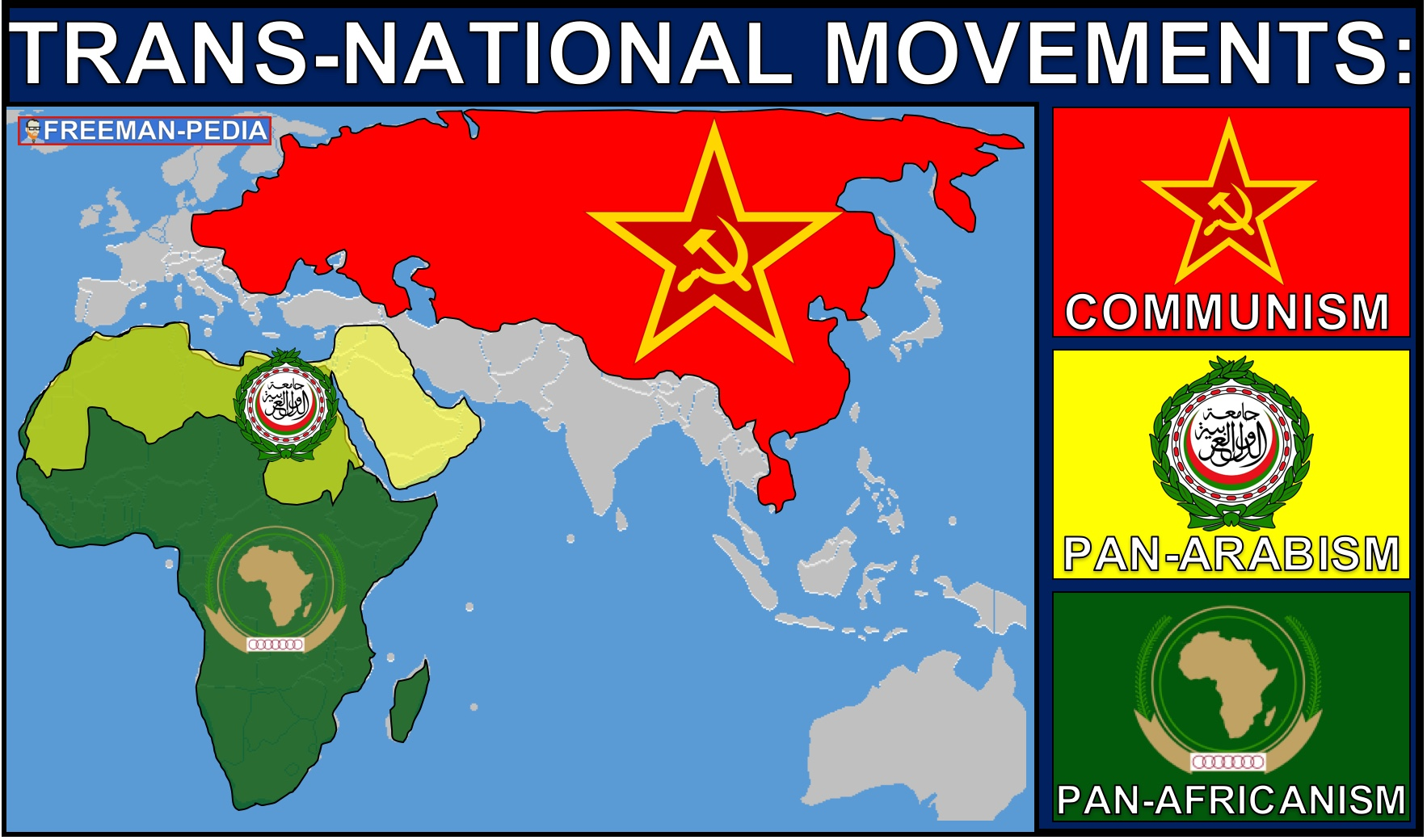 C. Transnational movements sought to unite people across national boundaries.