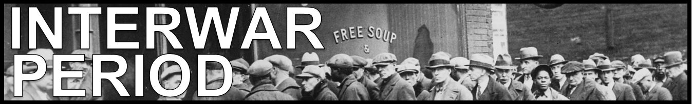 This period of history was marked by turmoil, as Europe struggled to recover from the devastation of the First World War. Later a period of considerable prosperity (the Roaring Twenties) followed, but this changed dramatically with the onset of the Great Depression in 1929. It was during this time that the Weimar Republic in Germany gave way to two episodes of political and economic turmoil, the first culminated in the German hyperinflation of 1923 and the failed Beer Hall Putsch of that same year. The second convulsion, brought on by the worldwide depression, resulted in the rise of Nazism. In Asia, Japan became an ever more assertive power, especially with regards to China.