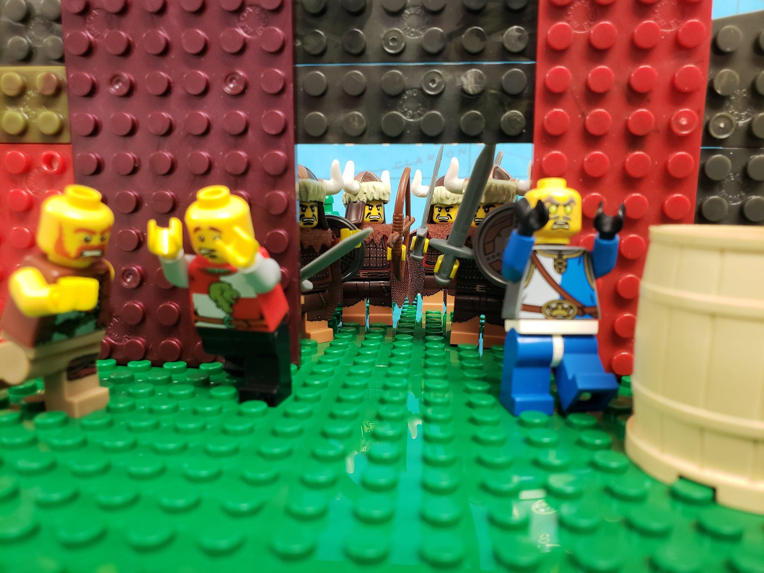 """Mongols enter the city"""
