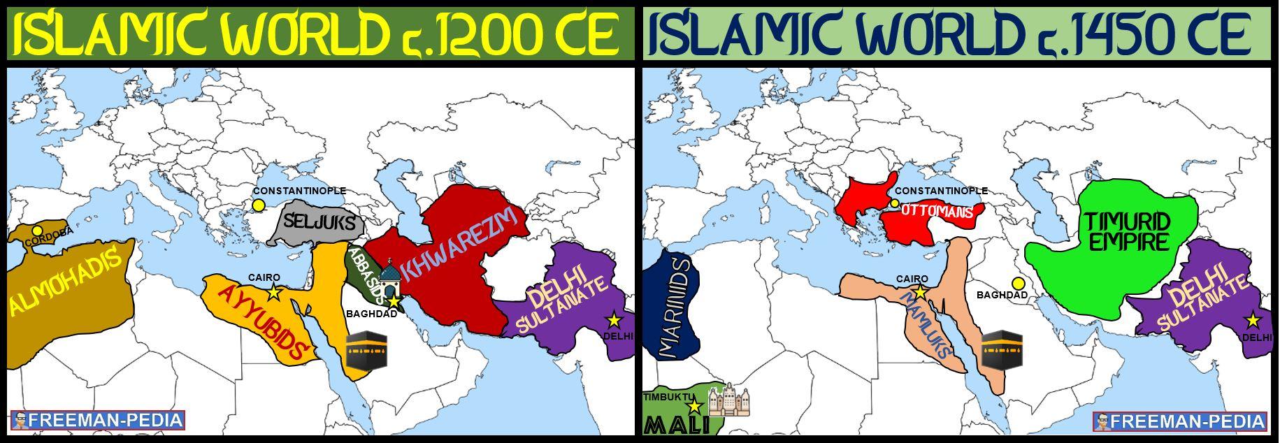 FRACTURING ISLAMIC EMPIRES ISLAMIC WORLD 1200 ISLAMIC WORLD 1450 AP WORLD MODERN FREEMANPEDIA.JPG