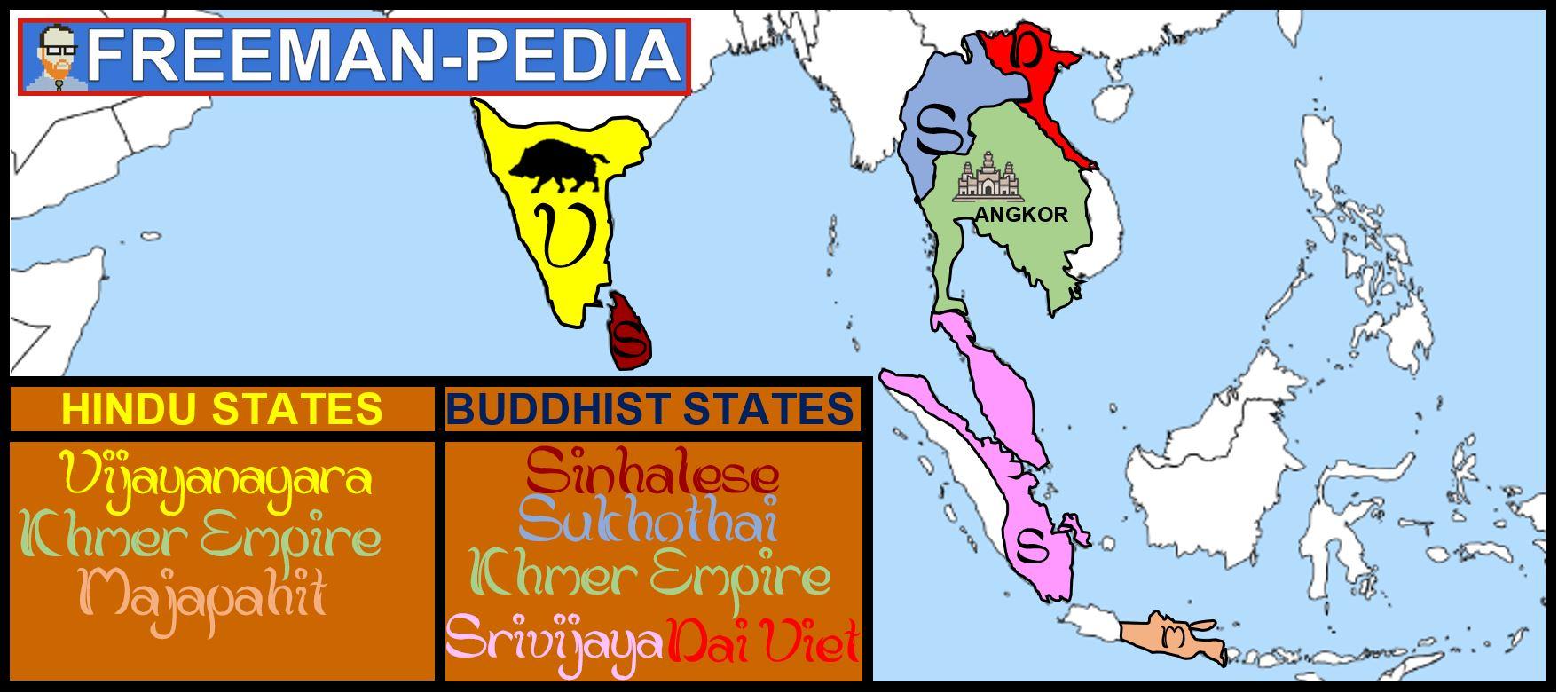 hindu buddhist states south asia southeast ap world modern freemanpedia.JPG