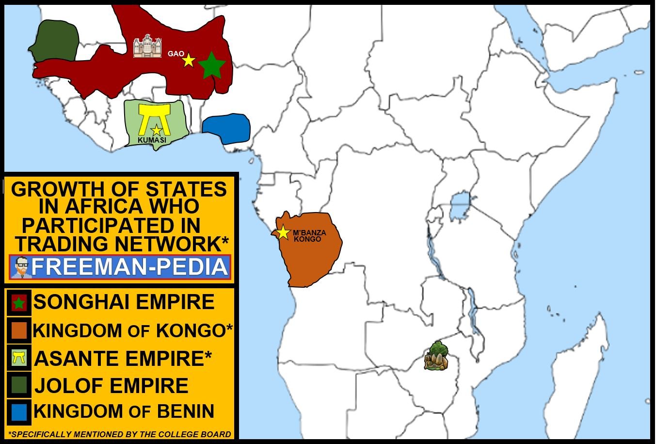expansion of maritime trading networks fostered the growth of states in Africa AP WORLD MODERN FREEMANPEDIA.JPG