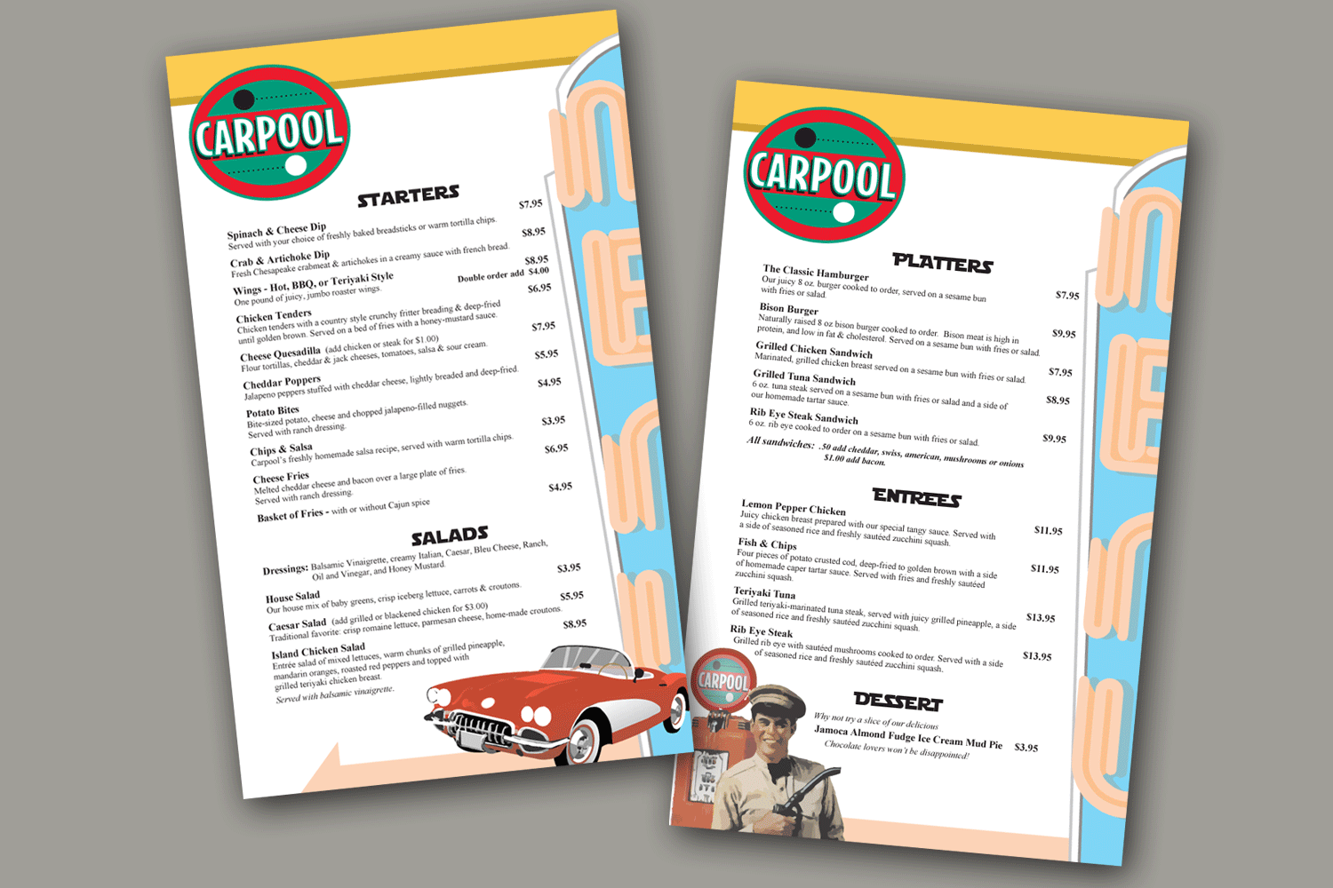 Carpool Menu