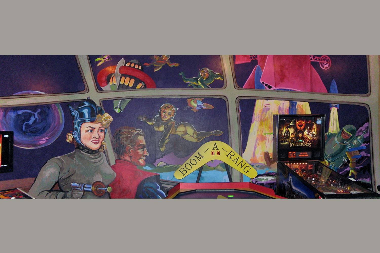 Retro Space Mural