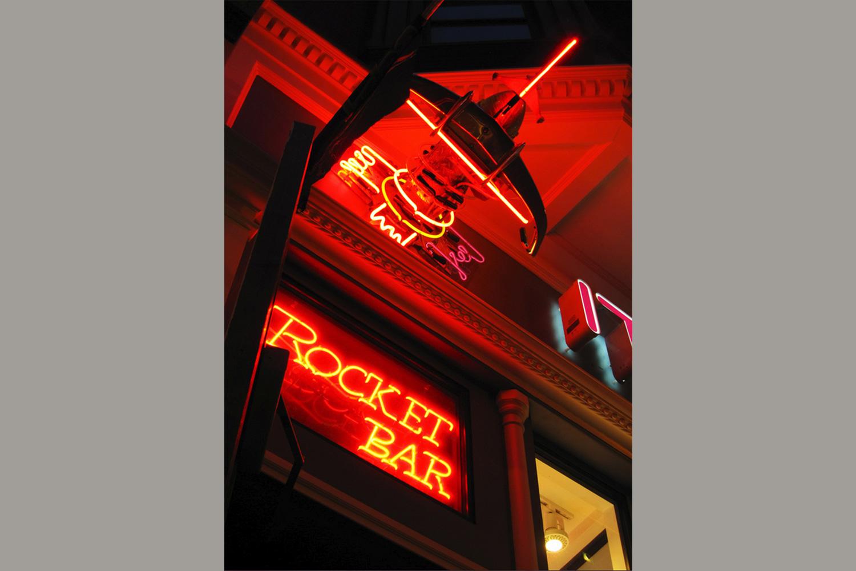 Rocket Bar Entrance Sign