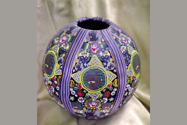 Millefiori Orb Vase