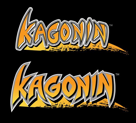 The original Kagonin logo (top) and the re-designed 2014 logo (bottom)